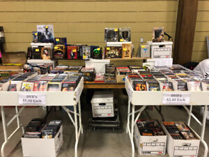 DVD vendor at Ancaster Toy & Collectibles show Sunday (March 3)
