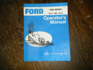Ford LM 19 & LM 21 Lawn Mowers Operators Manual