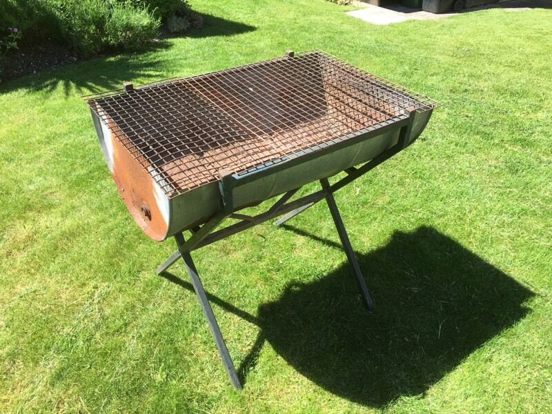 Large Barbecue Traditional Half Oil Drum In Winchester