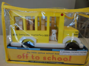 My Little School Bus Wooden Magnetic Toy by Jack Rabbit Creation