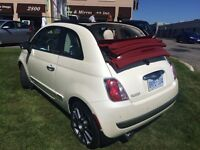 2013 Fiat 500c Perle and Red Convertible