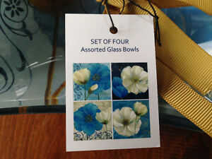 Glass Bowls - 2 sets of 4