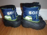 NEW SOREL WATERPROOF WINTER BOTS,SIZE 4 AND 10 TODDLER