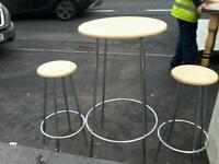 Tall table plus 2 stools