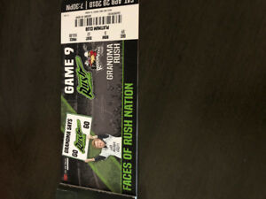 4tickets for sale for Rush game Saturday Must take all 4