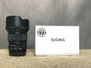 Sigma 50mm f/1.4 Art (Canon mount)