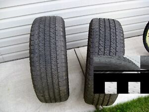 265/50R20 GOODYEAR TIRES (2) ONLY $150.00 50-60% LEFT