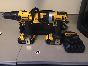 Dewalt 20v Drill and Impact Driver -- With Batteries!