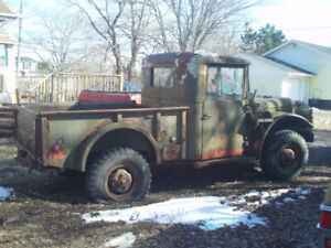 Pair of 1952 Dodge M37 Army trucks