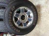 4 Rims & Tires off 2013 Dodge 2500