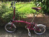 Brompton H6L Folding Bike - Good as New!