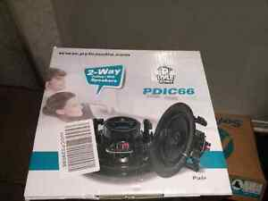 "NEW  2 x 6.5"" 200W Pyle PDIC66 in ceiling 2 way speakers"