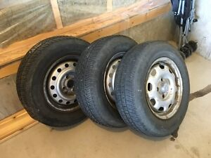 Three R13 Tires with Rims