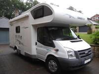 CHAUSSON FLASH 03, 6 BERTH, 6 SEAT BELTS, BUNK BEDS, GARAGE, 18,000 MILES