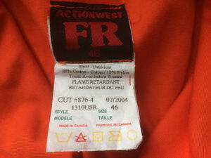 New Flame Resistant Coveralls Prince George British Columbia image 2