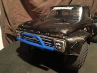Heavily upgraded traxxas rc short course truck