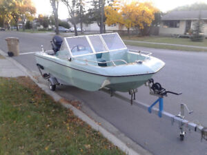 14' Boat with 85hp mercury and trailer