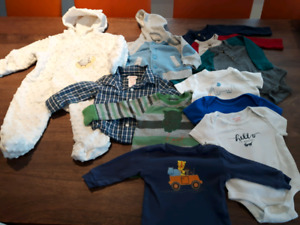 EUC Joe Fresh 3-6 mo baby boy lot - 12 pcs