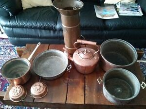 Collection of Vintage Copper
