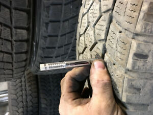 4 pneus d'hiver 245/75/17