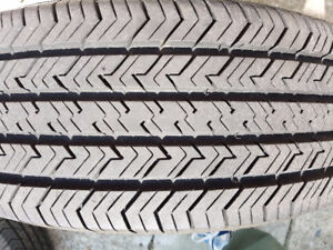 Michelin Tires (4) used with rims all season