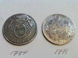 Antique German coins and 1- 1878 Afghanistan  silver medal