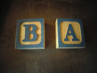 Wooden Letters - A & B