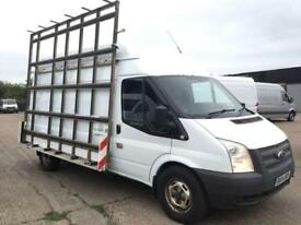 2014 14 FORD TRANSIT 2.2TDCI T350 LWB HIGH ROOF. GLASS WINDOW FRAIL RACK CARRIER