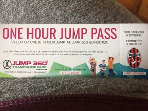 Jump 360 Passes for sale
