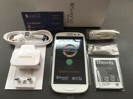 Brand new unlocked sim free Samsung Galaxy S3 sealed box with full new accessories uk