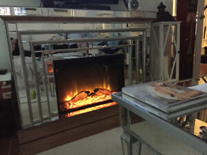 Mirrored Electric Fireplace $750.00 Rustique Madrid from Lowes