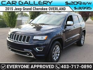 2015 Jeep Grand Cherokee OVERLAND w/Leather, PanoRoof, Navi, Bac