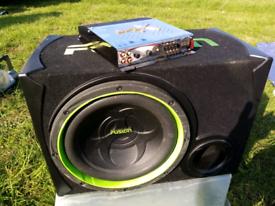 Fusion 12inch sub with splx Spla300 amp
