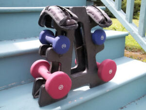 6 Piece Weight Set With Stand.