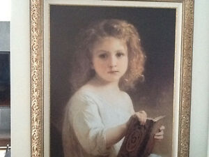Toile The Story book de Wiiliam Bouguereau