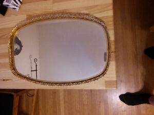 Beautiful Vintage Mirror Surface Serving Tray