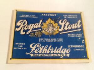 Sick's, Regina, Lethbridge Vintage Beer Bottle Labels ( 10 )