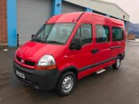 Renault Master 2.5TD 100 ( MWB ) MM33dCi (MWB) Minibus 7 seater red manual