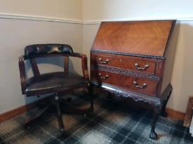 Captains chair and bureau desk