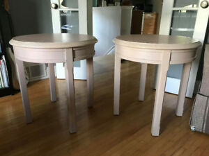 Oak End Tables - $40 for the pair