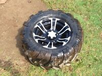 27 inch outlaw radials on 14 inch ss wheels