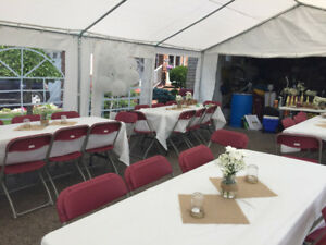 CHEAP Wedding Table, Chair, LED lights and Tent Rentals!