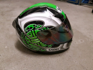 His and hers motorcycle helmets - Shoei & HJC