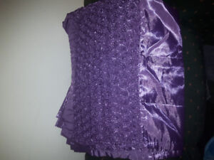 2 full length curtains {purple} 37x78 inches