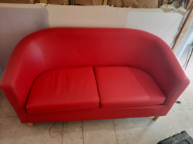 Small red sofa