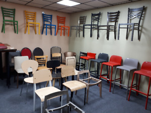 Heavy duty chair and table, commercial prices