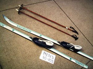 Cross Country Skis,Poles,Boots for Sking Couple or Single Skier