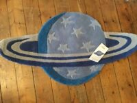 Next blue rug space/planet BNWT