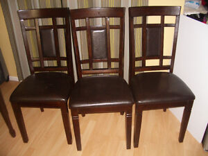 SET ----- 3 wooden Chairs