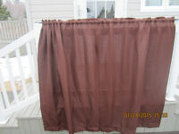 BROWN CURTAIN WITH CURTAIN ROD